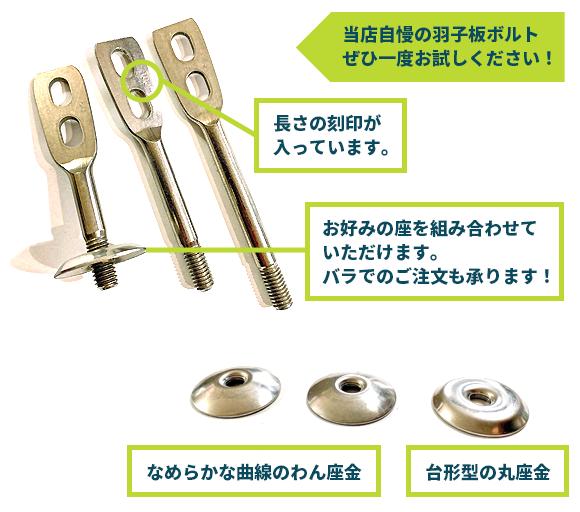 人気商品 SUS 3/8羽子板ボルト